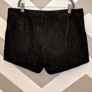 Nicole by Nicole Miller Black Lace Shorts